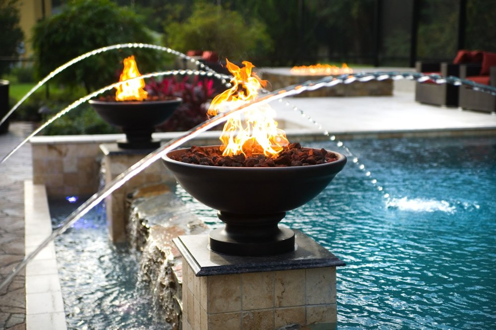 Fire Bowls are a popular Water Feature in 2016