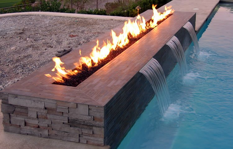 Fire Troughs are a popular Water Feature in 2016
